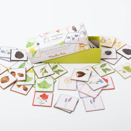 Moulin Roty - Képes lottó - Memória játék - Természet