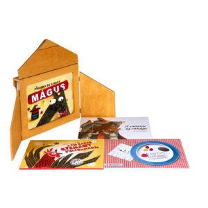 Papírszínház közepes csomag (fakeret + 6 mese)