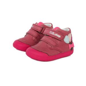 D.D.Step – Gyerekcipő – Átmeneti kislány bőrcipő – pink, lufi