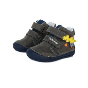 D.D.Step – Gyerekcipő – Átmeneti bőrcipő – sötétszürke, szuperhős