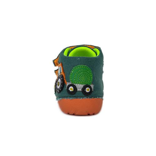 D.D.Step - Gyerekcipő - Zárt vászon félcipő - sötétzöld traktoros