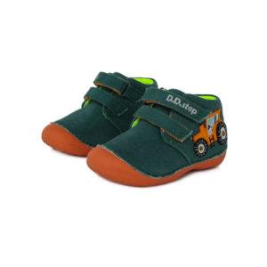 D.D.Step – Gyerekcipő – Zárt vászon félcipő – sötétzöld, traktoros