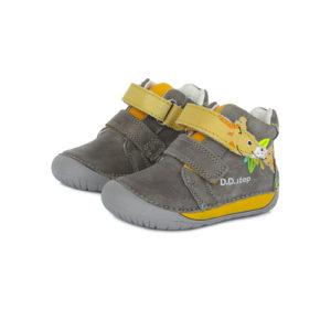 D.D.Step – Gyerekcipő – Átmeneti bőrcipő – szürke, zsiráf