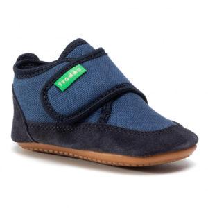 FRODDO – Puhatalpú benti cipő – vászon és bőr – sötétkék