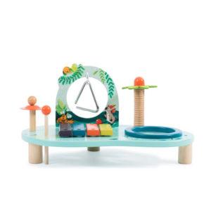 Moulin Roty – Asztalka játékhangszerekkel – Dzsungel