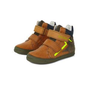 D.D.Step – Gyerekcipő – Átmeneti uniszex bőrcipő – világosbarna, szikra