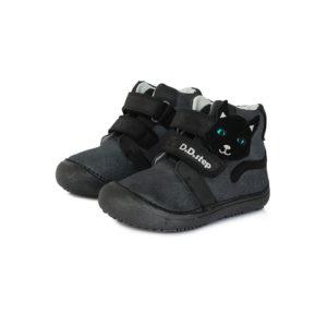 D.D.Step – Gyerekcipő – Átmeneti barefoot bőrcipő – sötétszürke, cica
