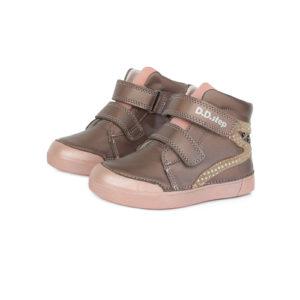 D.D.Step – Gyerekcipő – Átmeneti kislány bőrcipő – pezsgő, rózsaszín