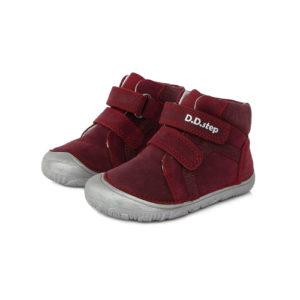 D.D. Step – Gyerekcipő – Átmeneti barefoot bőrcipő – vörös