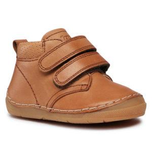 FRODDO –  Duplatépőzáras, bélelt gyerek cipő – barna